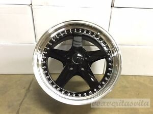 18 8 5 9 5 Staggered Wheels Rims Equip Style Fits 5x114 3 5x4 5 Black Face Lip