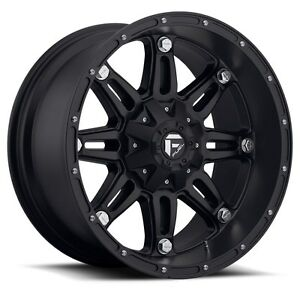 20 20x10 Fuel Hostage Black Wheels 33 Mt Tires Package 6x5 5 Chevy Gmc 6 Lug