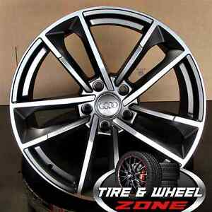 18 Audi S Line Rs7 Wheels Tires Gunmetal Machine Fits A3 S3 A4 S4 A5 S5 Tt Q3