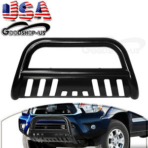 3 Bull Bar Push Brush Grill Grille Guard W Skid Plate For 05 15 Toyota Tacoma