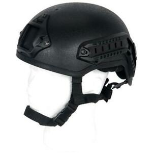Lancer Tactical Mich 2001 NVG Helmet W Rails CA-333B Black New For Airsoft