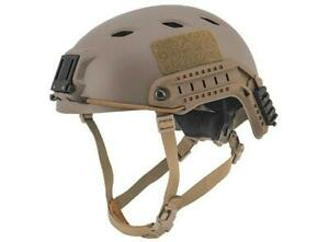 Lancer Tactical Specops Style NVG Helmet With Rails Tan New For Airsoft $40.00
