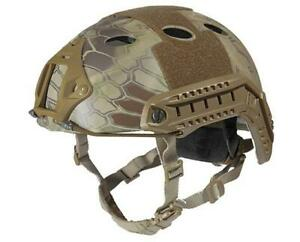 Lancer Tactical Specops Military Style Helmet Pj W Rails & Velcro For Airsoft