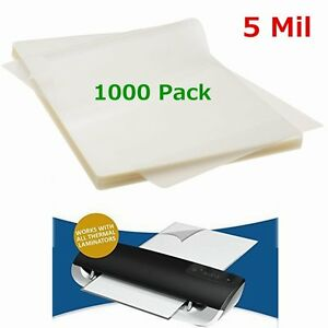5 Mil 1000 Qty Letter Size Thermal Laminator Laminating Pouches 9 X 11 5 Sheet