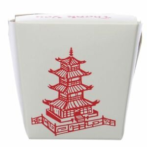 Chinese Food Containers With No Handles Pagoda Half Pint 8 Oz 78054