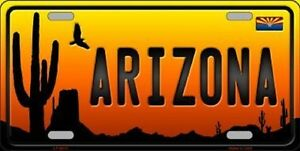 Arizona Scenic Background Metal Novelty License Plate Car Front Tag