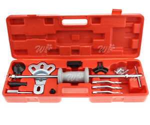 16 Pieces Axle Slide Hammer Bearing Puller Dent Grip Wrench Adapter Tool Set
