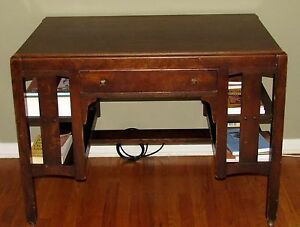 Antique Signed Limbert Arts Crafts Library Table Desk 132 Ca 1920s Mission