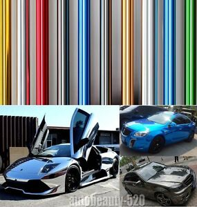 Best Wrap Hot Entire Car Auto Glossy Mirror Chrome Vinyl Film Decal Sticker Rr