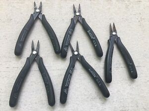 5 Xcelite 378d Electronic Wire Thin Profile Long Reach Serrated Jaws Pliers