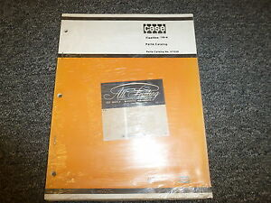 Case 16 4 Fleetline Trencher Backhoe Parts Catalog Manual Book