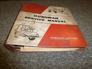 Cushman Pre 1977 Minute Miser Golf Carts Shop Service Repair Manual Book