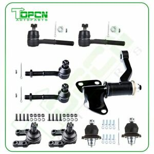 9pcs Suspension Kit Ball Joint Tie Rod Idler Arm For 1986 1994 Nissan D21 4x4