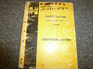 Hyster C330a Tandem Smooth Drum Roller Compactor Parts Catalog Manual Book
