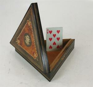 Antique Italian Grand Tour Souvenir Box Sorrento Burl Wood Inlay Hand Crafted