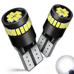 T10 194 Canbus White 24smd W5w Led Map Dome Interior Light Bulb For Audi Bmw 2x