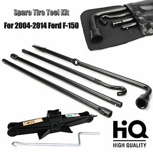 Repair Spare Tire Tool Oem For Ford 2004 2014 F150 And Scissor Jack Black Steel