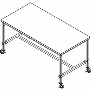 Large Silver Retail Display Tables 66776