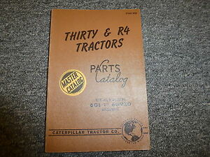 Caterpillar Cat Thirty 30 R4 Tractors Parts Catalog Manual Book S n 6g1 6g930