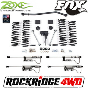 Zone 4 Suspension Lift Jeep Wrangler Jk 4 Door W Fox Remote Reservoir Shocks