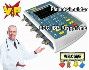 Ce Portable Multi parameter Patient Simulator temp ibp Cables touch Screen ms400