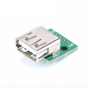 5pcs Type A Female Usb To Dip 2 54mm Pcb Board Adapter Converter For Arduino L