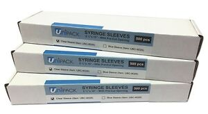 Syringe Sleeves 2 1 2 X 10 With Pre Cut Opening 500 Pcs Box