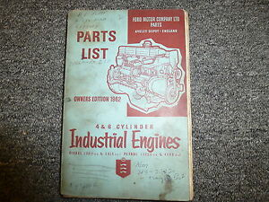 Ford 3811 5416 Diesel 3200 4888 Gas Industrial Engine Parts Catalog Manual