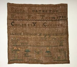 An Antique American Needlework Textile Sampler Dated 1790 1806