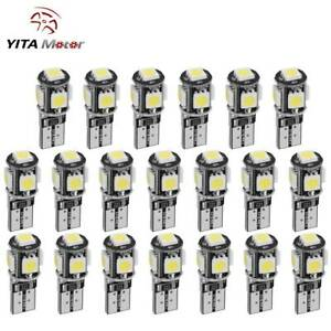 Yitamotor Pure White Canbus Error Free T10 Led License Light Bulb W5w 194 20pcs
