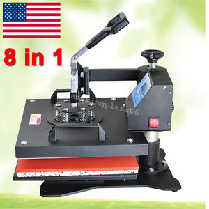 8 In1 Multifunction Full Digital Transfer Sublimation Heat Press Machine Printer