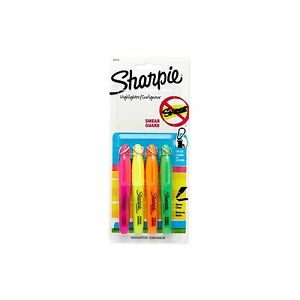 Sharpie Accent Mini Highlighters 4 Colored Highlighters 20374 Free Shipping