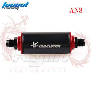 Aluminum Racing Fuel Filter With Oil Filter An8 Fittings With 100 Micron Element