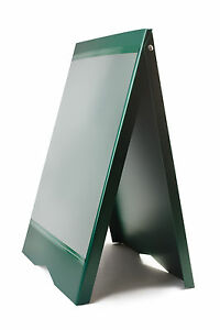 A board Pavement Sign Menu Sandwich Board Shop Sign For A2 Size Posters Green