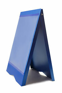 A board Pavement Sign Menu Sandwich Board Shop Sign For A2 Size Posters Blue