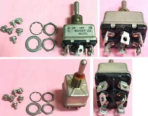 lot 5pcs New Ms25307 272 8837k2 Toggle Switch Dpdt Momentary 25a 28vdc
