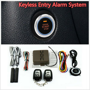 Car Engine Push Start Button Lock Ignition Keyless Entry Remote Starter Systems