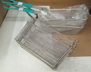 lot Of 4 Deep Fryer Baskets 2 13x6x6 2 11x5x4