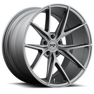 18 Staggered Niche Misano M116 Anthracite Wheels Rims 5x4 5 Ford Mustang Lexus