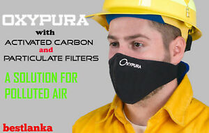 Anti Smoke Respirato Air Purifying Face Mask Activated Carbon Filter Multi Layer