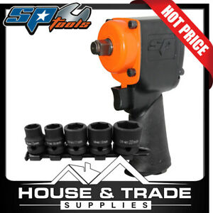 Sp Tools Impact Wrench Air 1 2 Dr Plus Bonus 5 Piece Impact Socket Set Sp 1141b