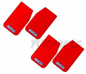 2 Pairs Sparco 03791rs Universal Mud Flaps Guards red 11 x18 5