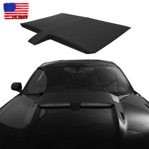 Car Abs Black Air Engine Hood Scoop Frame Cover For 2015 2017 Ford Mustang