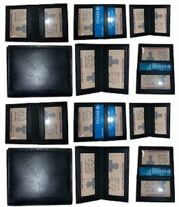 Lot Of 12 New Slim Leather Business Card Credit Card Id Case 2 Id Windows 12