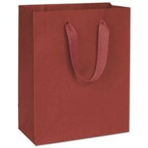100 Radio City Red Manhattan Paper Bags Eco Euro shoppers 8 X 4 X 10