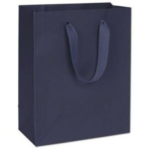 100 Nolita Navy Manhattan Paper Bags Eco Euro shoppers 8 X 4 X 10