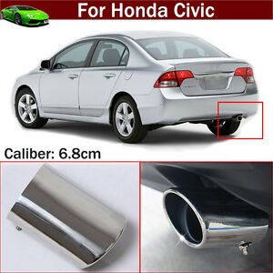 Exhaust Muffler Tail Pipe Tip Tailpipe Emblem For For Honda Civic 2012 2019