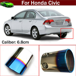 Blue Exhaust Muffler Tail Pipe Tip Tailpipe Emblem For For Honda Civic 2012 2019
