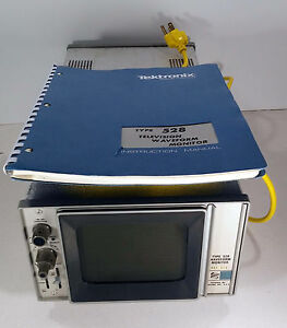 1 Used Tektronix Type 528 Waveform Monitor Mod W2w W manual make Offer