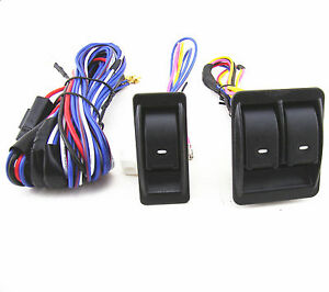 Universal Car Truck Suv Power Door Window Glass Lift Switch Harness Cable Sets